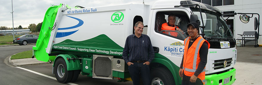 Enviro 9000 battery-electric refuse truck