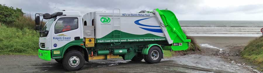Electric rubbish truck