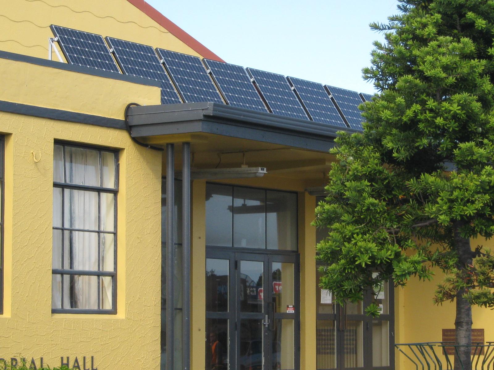Solar panels at the Ōtaki Library