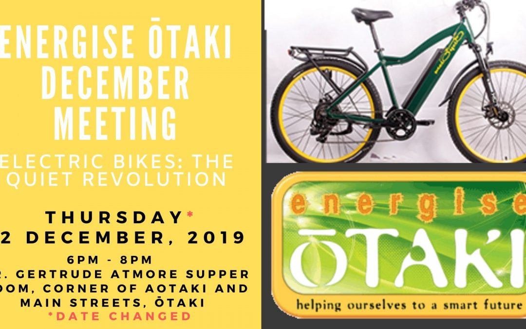Energise Ōtaki's December 2019 Meeting Minutes
