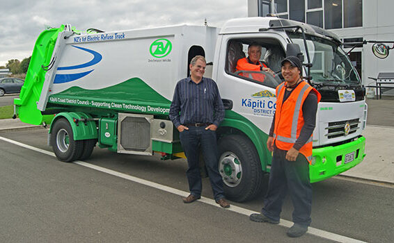Enviro 9000 battery-electric refuse truck