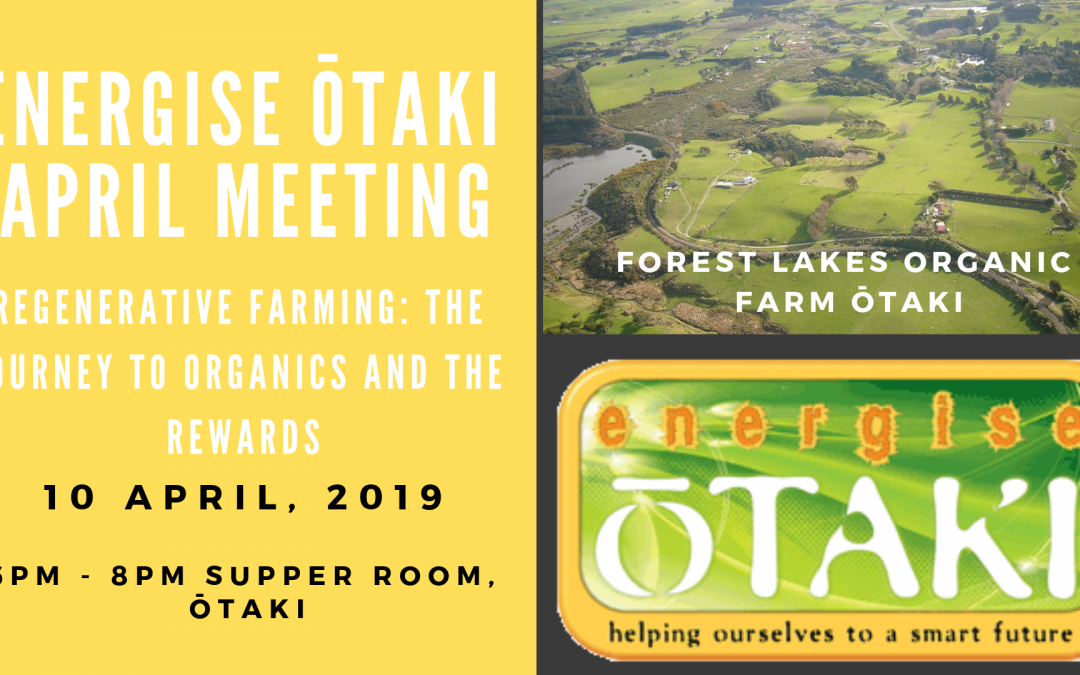 Energise Ōtaki Community Meeting: Wednesday April 10th, 2019