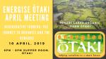 Energise Ōtaki Community Meeting: Wednesday April 10th, 2019