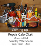 Ōtaki Repair Cafe - 19 October, 2019 10am - 2pm