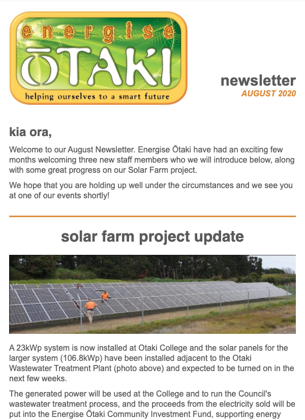 Newsletter Aug 20