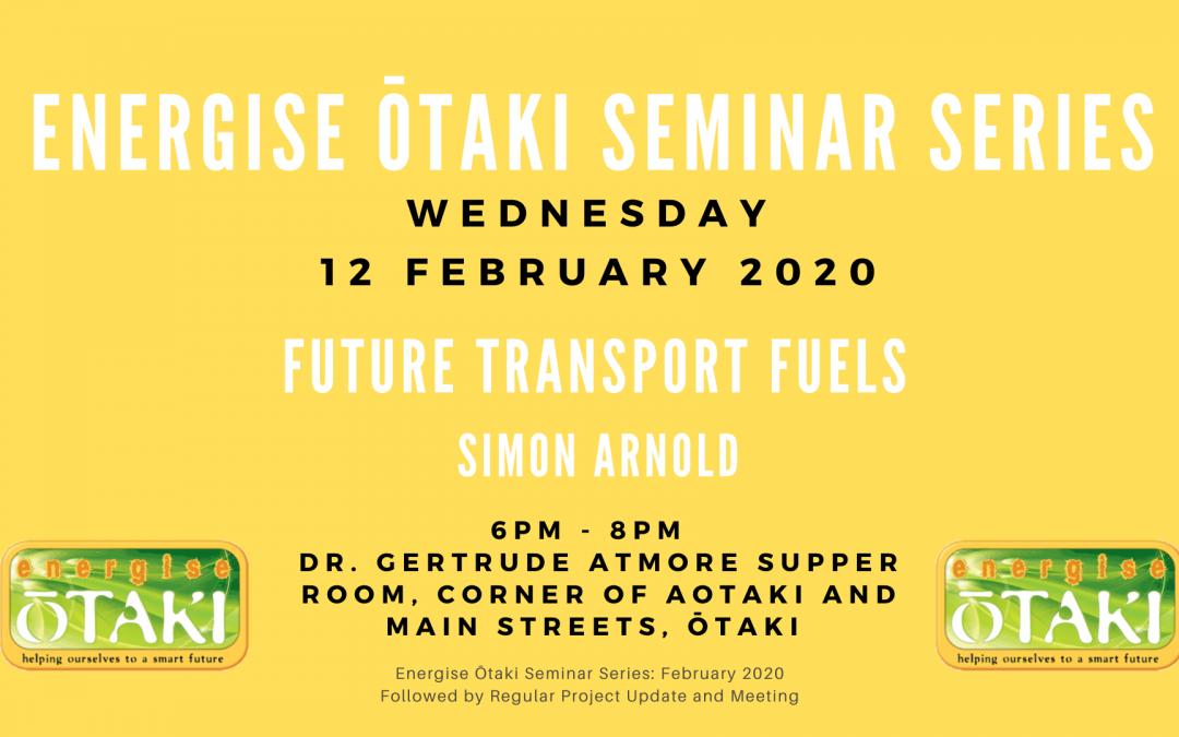 Energise Ōtaki Inc. Seminar Series: Future Transport Fuels
